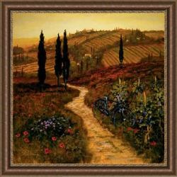 @Overstock.com - Thoms Down The Lane Embellished Framed Art Print - Add drama to your space with this traditional framed art print, featuring a lovely landscape and meandering lane. A burnished gold frame is home to the serene and peaceful composition created by Artist Thoms. It will be lovely in any home environment.  http://www.overstock.com/Home-Garden/Thoms-Down-The-Lane-Embellished-Framed-Art-Print/5868725/product.html?CID=214117 $116.99