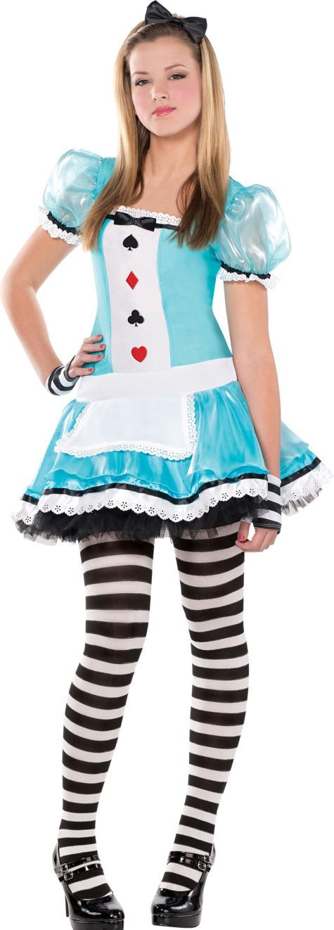 Teen Girls Clever Alice Costume - Party City