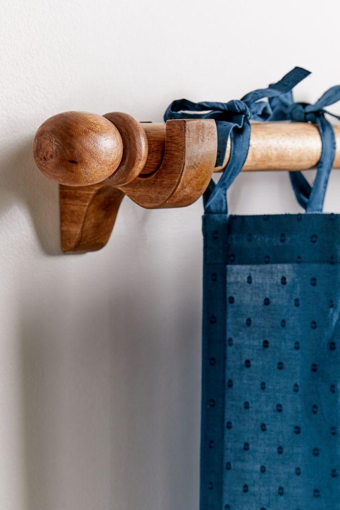 mango wood curtain rod wood curtain