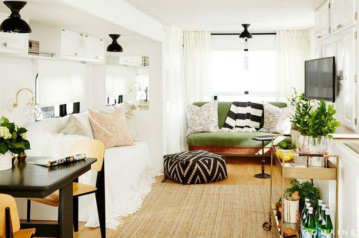 rv makeover interior | Using basic interior design tricks such as white walls and light ...