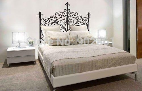 Funlife полный 4 размера роскошный дизайн винил изголовье на стены наклейка для спальни