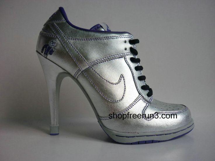 ... gunmetal; nike dunk sb high heels low silver black ...