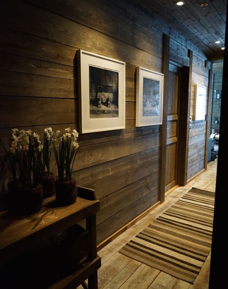 can hallways have wood on walls (wood to be the greyer tone)