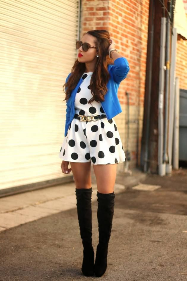 White And Black Polka Dot Playsuit  # #A Keene Sense Of Style #Fall Trends #Fashionistas #Best Of Fall Apparel #Playsuit Polka Dot #Polka Dot Playsuits #Polka Dot Playsuit White and Black #Polka Dot Playsuit Clothing #Polka Dot Playsuit 2014 #Polka Dot Playsuit Outfits #Polka Dot Playsuit How To Style