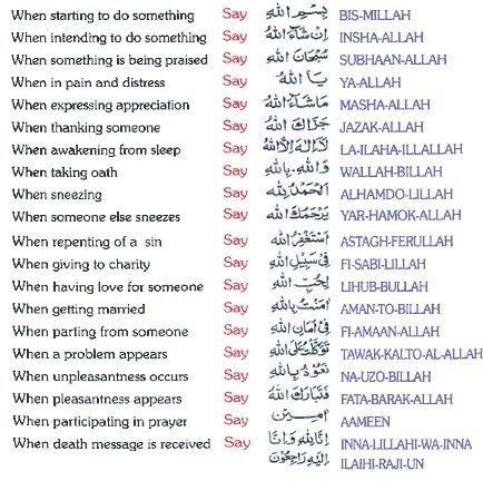 Islamic Phrases