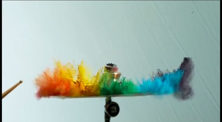 Paint On A Drum In K Slo Mo The Slo Mo Guys High On Colour - Putting paint on a drum kit creates an explosive rainbow