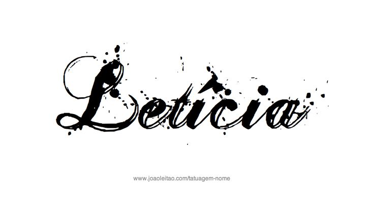 Desenho de Tatuagem com o Nome Leticia