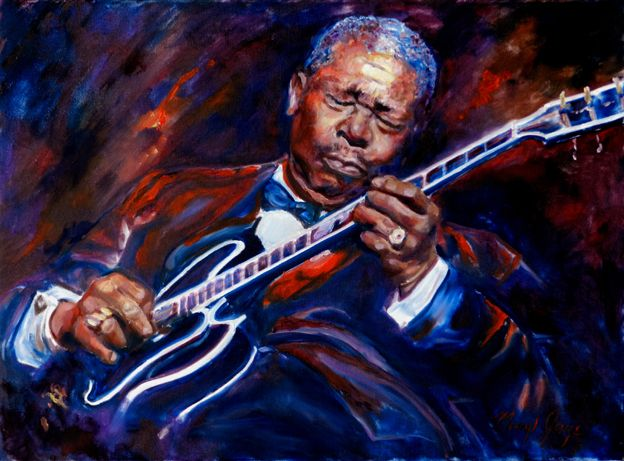 Talking with Merryl Jaye, an artist who captures on canvas the emotion and spontaneity of blues & Jazz - Blues.Gr