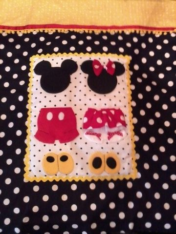 Mickey and Minnie Mouse Stroller/Pack n Play Quilt