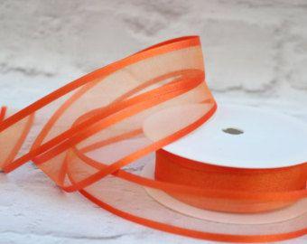 Forniture in organza nastro, nastro di Organza Sheer Satin bordo 1 metro, 25mm nastro arancione, decorazione di nozze, Natale nastro, carta da regalo, negozio Etsy.