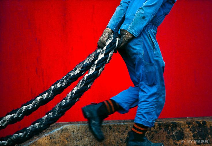 "I think I found a new favorite photographer. Jay Maisel ""Red Wall and Rope"""