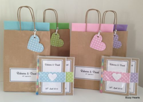 Personalised Children Vintage Dotty Style Activity Pack Bag Wedding Party Gift