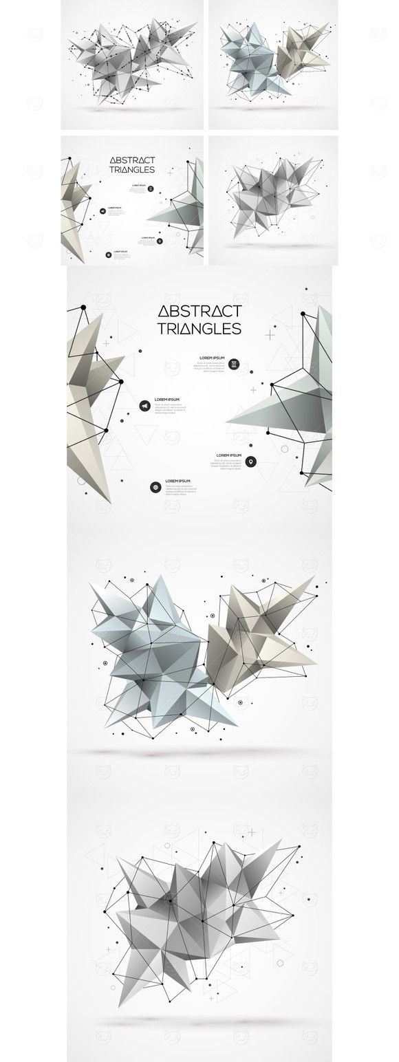 4 Polygonal Shapes. Medical Infographic. $8.00