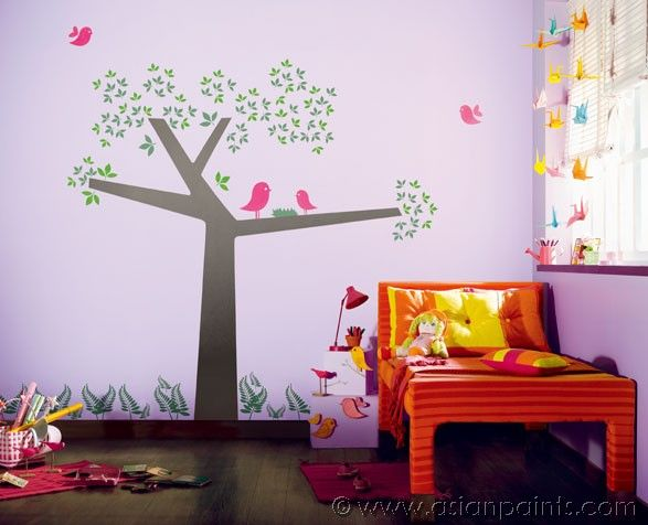 Kids 39 theme bird time stories kids 39 room inspirations pinterest kid and birds - Childrens bedroom wall colours ...