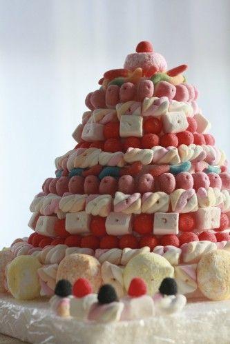 Gâteau de bonbon pour un anniversaire