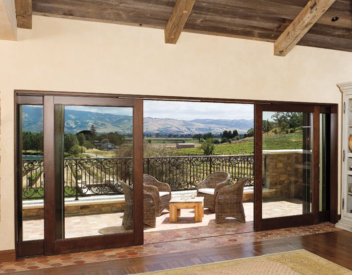 Vineyard view from the marvin windows and doors gallery for Outside sliding glass doors
