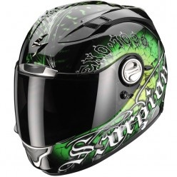 Casque Integral Scorpion EXO 1000 Air E11 Darkness Noir Vert - http://www.icasque.com/Casque-moto/Integral/EXO-1000-Air-E11-Darkness-Noir-Vert/