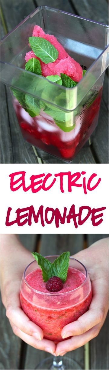 Frozen Raspberry Lemonade Recipe! ~ at TheFrugalGirls.com ~ the perfect refreshing electric summer beverage!