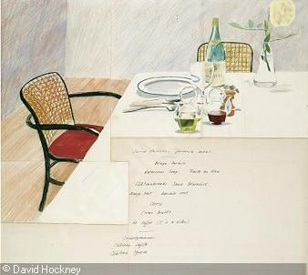 HOCKNEY David, DESIGN FOR THE NEAL STREET RESTAURANT MENU (DAVID HOCKNEY'S FAVOURITE MEAL),Sotheby's,London