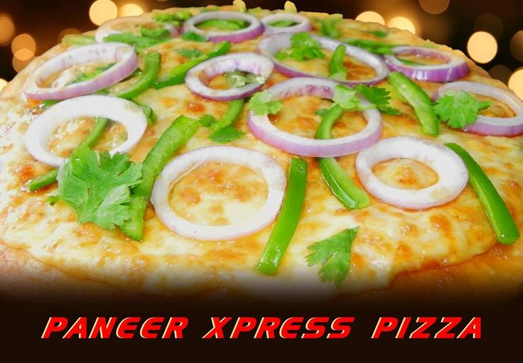 The New Paneer Xpress Pizza is a Truly North Indian Pizza, It has a bed of Minced Paneer ( Paneer Bhurji ) prepared in authentic North Indian Style and Topped with Capsicum, Onions, Coriander...... MUST MUST MUST TRY !!!