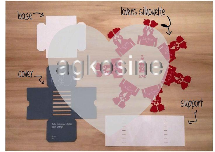 Kit Creazione Scatola di Tea per San Valentino - Lovers Tea Box Creation Kit di agkosine su Etsy