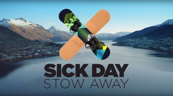 This is hilarious! How to Call in Sick and Stow Away to Queenstown! #nz #queenstown #sickday #funny #JustNewZealand
