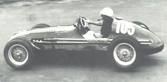 #105 Felice Bonetto (I) - Maserati A6GCM (Maserati 6) disqualified push start after spin (10) Officine Alfieri Maserati