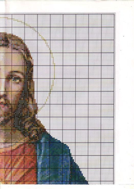 Punto de cruz: Sagrado Corazón de Jesús 2/4