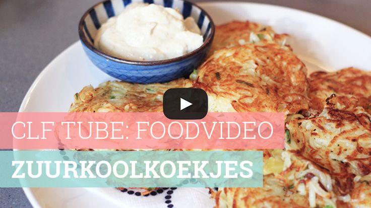 Foodvideo: Zuurkoolkoekjes met mosterddip