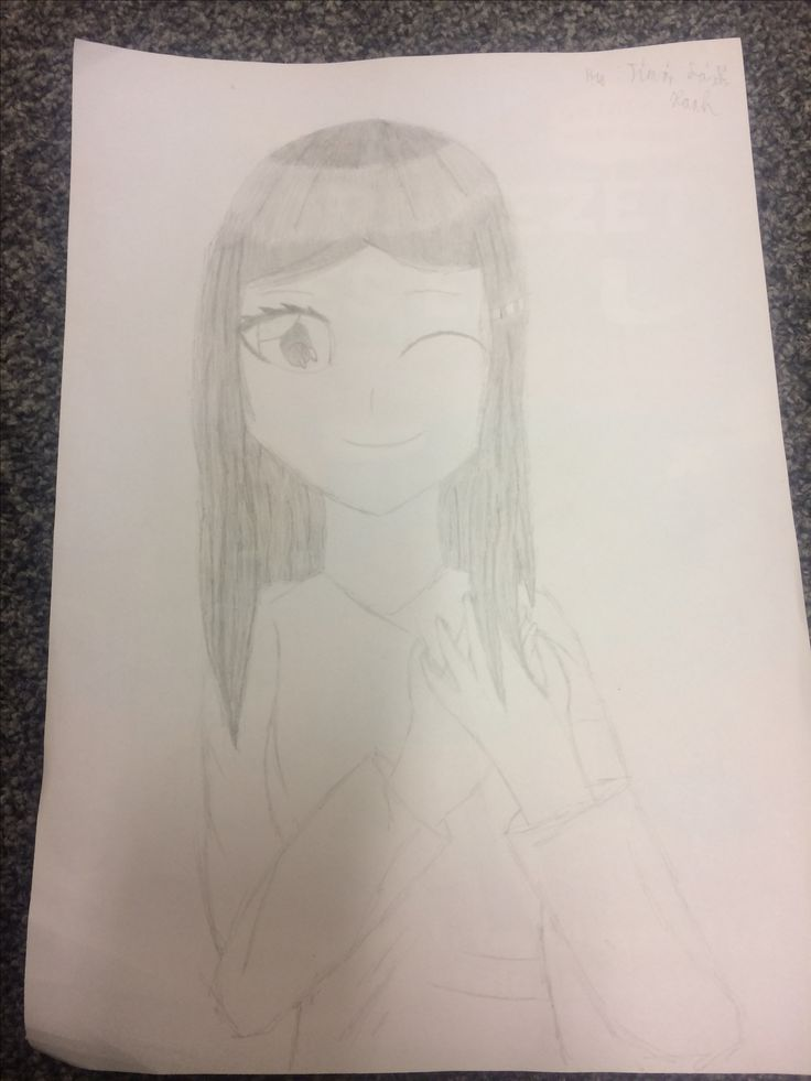 I drew this anime girl and I didn't colour it so yeah xD I hope you like it. #anime #art #paint #anime girl