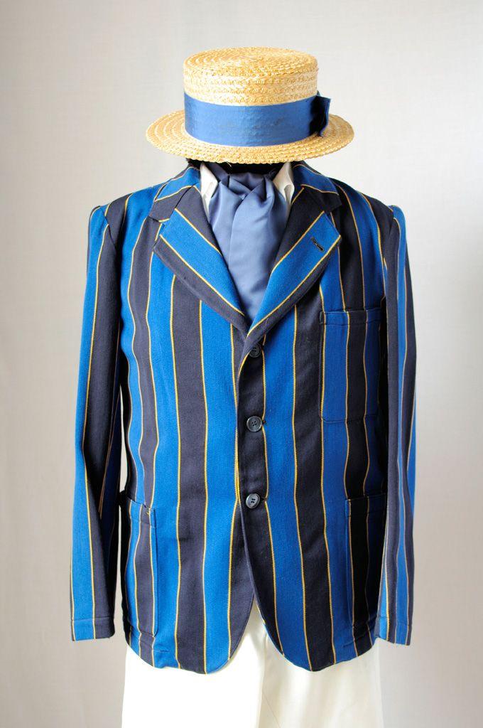 Blazer A Bright Colored Sport Jacket Originally Striped