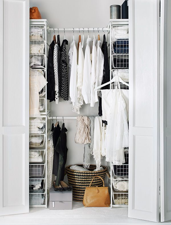 The IKEA ALGOT system has customizable wire storage that can organize what's behind closed doors!