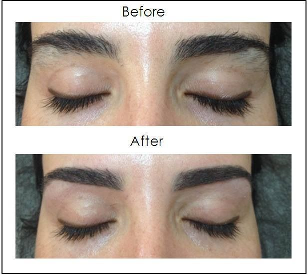 how to make eyebrow shape with thread