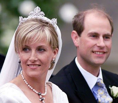 June Pictures Are Sophie Countess Of Wes And Prince Edward Earl On Their Wedding Day Photo By Getty Images Via Hello Magazine