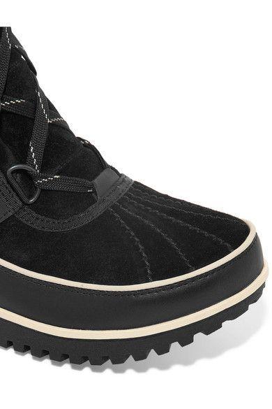 Sorel - Tivoli Ii™ Waterproof Suede And Leather Boots - Black - US10.5