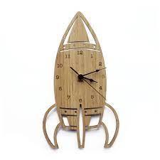 Resultado de imagen para rocket ship wall clock laser cut