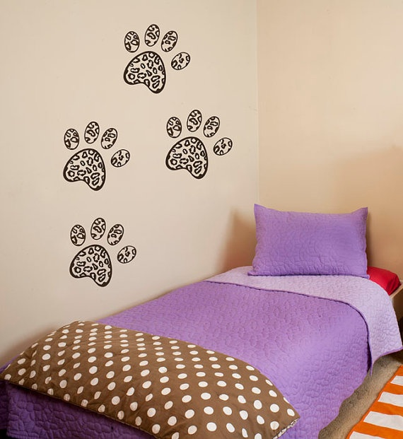 Leopard Paw Print Wall Decals By Overlyattacheddecals On Etsy, $29.99 Kids,  Children