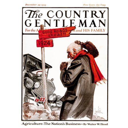 Cover of Country Gentleman agricultural magazine from the early 20th century Canvas Art - Remsberg Inc Design Pics (13 x 17)