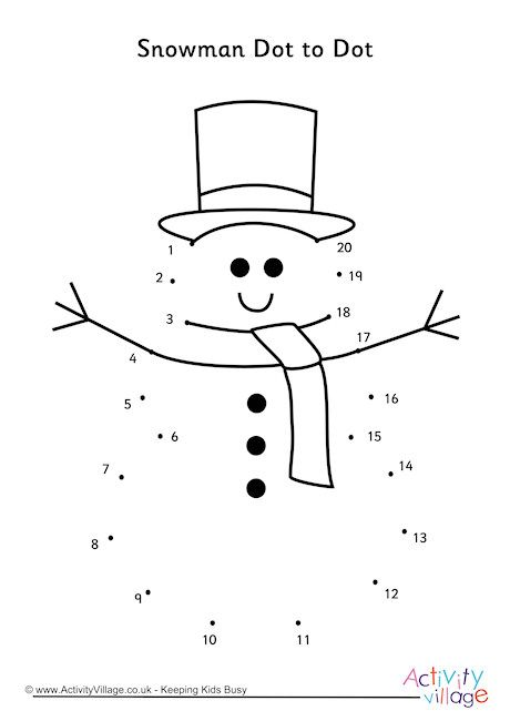 snowman dot to dot christmas christmas worksheets joining dots dots. Black Bedroom Furniture Sets. Home Design Ideas