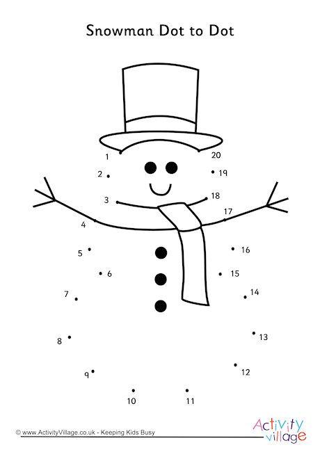 Snowman Dot to Dot Christmas