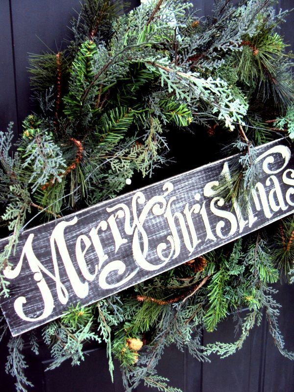 merry christmas sign black and white flowers