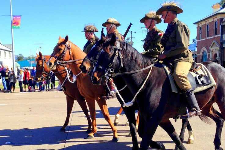Australian Light Horses in the 2015 Scone Horse Festival Parade