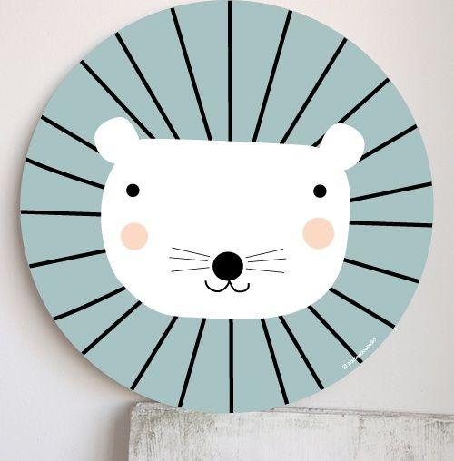 Leon Superleuke decoratie op hout! | Liefs van maantje via Kinderkamerstylist