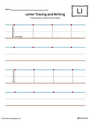 letter l tracing and writing printable worksheet color ideas for the house letter. Black Bedroom Furniture Sets. Home Design Ideas