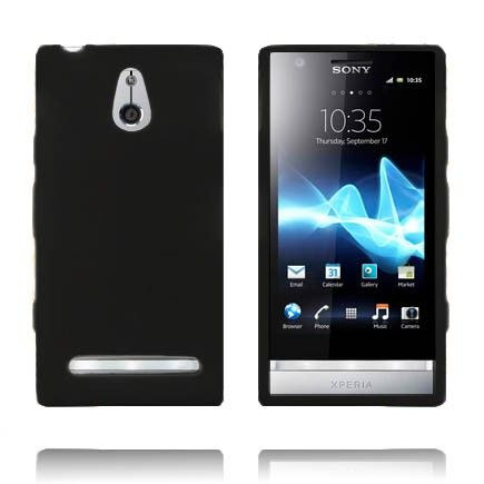 Soft Shell (Sort) Sony Xperia P Deksel