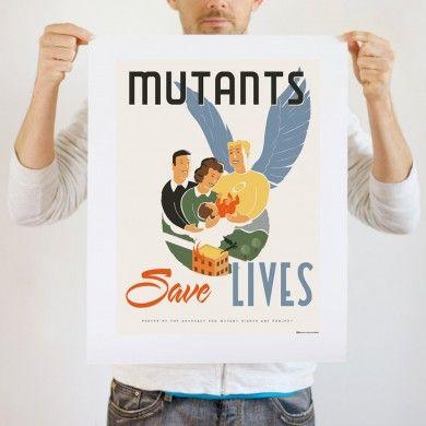 #Marvel Mutant Save Lives Print (or tee!)
