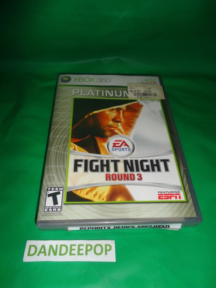 Microsoft XBox 360 Fight Night Round 3 XBox Live Platinum Video Game EA Sports find me at www.dandeepop.com