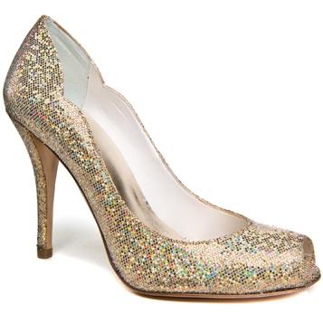 "Stuart Weitzman ""Dippy"" Sand Mini Glitter (in Rose Gold)    aka - Dom's shoes"