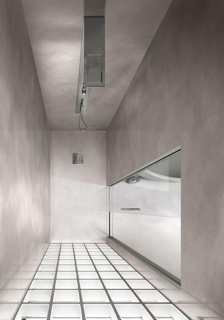 La soluzione doccia Essential by Scrigno offre opportunità e facilità a coloro che trovano difficoltà di accesso al tradizionale box doccia, sia per la presenza del piatto, sia per le necessità di spazio richieste dalle tradizionali porte a battente. #Scrigno #revolutionscrigno #doccia #shower #bathdesign #arredobagno