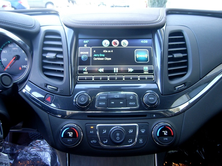 Interior shot of 2014 Chevy Impala